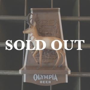 OLYMPIA BEER オリンピアビール  ヴィンテージサイン アンテロープ bigbear-usa