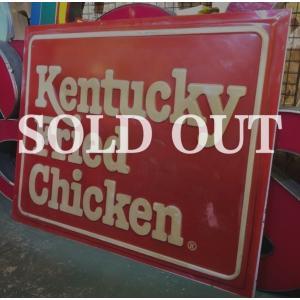 アメリカ、Kentucky Fried Chicken(ケンタッキーフライドチキン)の大型店舗看板で...