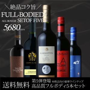 赤ワイン セット 送料無料 第5弾 上質コク旨フルボディ 5本ワインセット wine set|bigbossshibazaki