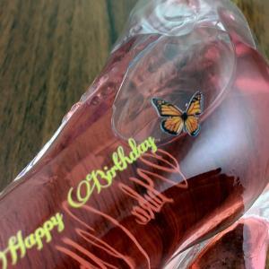 名入れ印刷 ガラスの靴 名前とメッセージが入るシンデレラシュー ミニチュアボトル ピンク 40ml gift|bigbossshibazaki|02