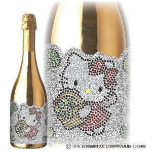 スパークリングワイン 今ならポイント10倍 ハローキティ ゴールドボトル スパークリング 750ml 箱付き bigbossshibazaki