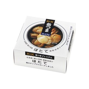 缶つまプレミアム 北海道噴火湾産 ほたて 燻製油...の商品画像
