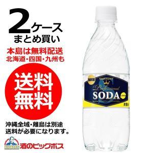送料無料 サントリー ソーダレモン 強炭酸 490mlペットボトル×2ケース/48本(048)|bigbossshibazaki