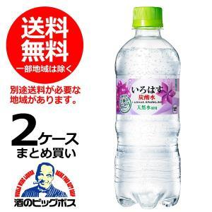 送料無料 い・ろ・は・す スパークリング ぶどう 515ml×2ケース/48本(048)|bigbossshibazaki