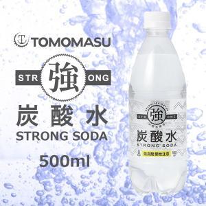 炭酸水 友桝 強炭酸 プレーン 500ml×1ケース/24本(024)|bigbossshibazaki