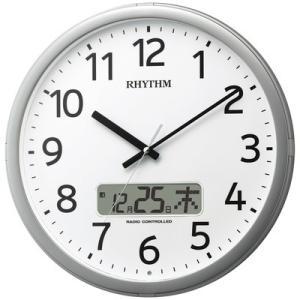 RHYTHM リズム時計 クロック 電波掛け時計 プログラム...