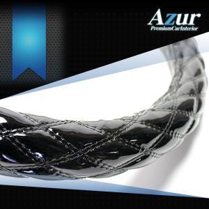 AZUR アズール製 ステアリングカバー エナメル ブラック/黒  S/M/LS/LM/2HS/2HM/2HL/3L 各サイズあり 大型 中型トラック用サイズあり メーカー直送品|bigchain