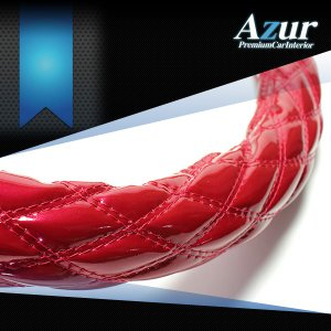 AZUR アズール製 ステアリングカバー エナメル エンジ/赤茶  S/M/LS/LM/2HS/2HM/2HL/3L 各サイズあり 大型 中型トラック用サイズあり メーカー直送品|bigchain