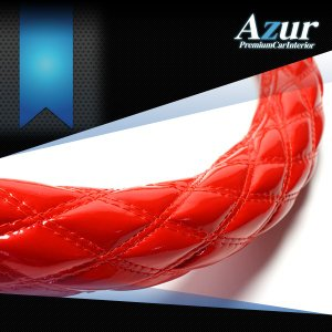 AZUR アズール製 ステアリングカバー エナメル レッド/赤  S/M/LS/LM/2HS/2HM/2HL/3L 各サイズあり 大型 中型トラック用サイズあり メーカー直送品|bigchain