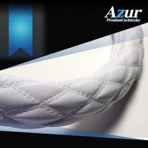 AZUR アズール製 ステアリングカバー エナメル ホワイト/白  S/M/LS/LM/2HS/2HM/2HL/3L 各サイズあり 大型 中型トラック用サイズあり メーカー直送品|bigchain