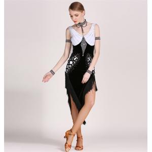社交ダンス衣装 ラテンダンス衣装 ダンスドレス ラテンドレス チャチャ タンゴ タッセルドレス フリンジ キャバ ダンス衣装 練習服 競技着 bigchancenet