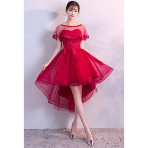 ミニドレス 花嫁ドレス パーティードレス ウェディングドレス カラードレス ショートドレス ワンピー...