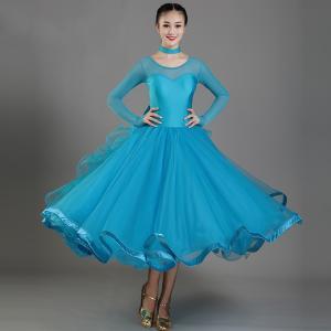 社交ダンス衣装 社交ダンスドレス モダンドレス ダンスウェア ダンスウエア 社交ダンス 練習着 社交ダンス競技用のドレス スタンダードドレス|bigchancenet