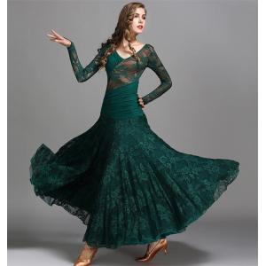 社交ダンス衣装 ダンスウェア ワンピース 社交ダンス モダンドレス 大きい裾 人気社交ダンスドレス ワルツ ダンス練習着 ステージ衣装 モダン衣装|bigchancenet