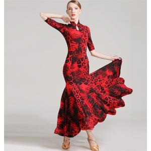 社交ダンス衣装 社交ダンスドレス モダンドレス ダンスウエア 競技 デモ ダンス 衣装 ガールズ  社交ダンス競技用のドレス ワンピース|bigchancenet