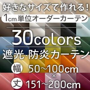カーテン オーダーカーテン 遮光1級 防炎 ラ・パレット 巾50-100cm 丈151-200cm|bigen