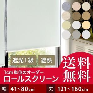 ロールスクリーン ロールカーテン オーダー 遮光 幅91-150cm 丈81-160cm|bigen