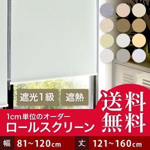 ロールスクリーン ロールカーテン オーダー 遮光 幅151-200cm 丈81-160cm|bigen
