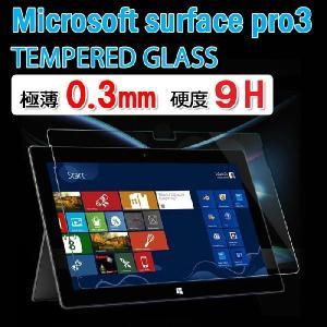 Microsoft surface Pro3 強化ガラス サーフェスプロ 3 透明強化ガラスフィルム 保護シート 液晶フィルム 硬度9H 極薄 0.3mm ゆうパケット送料無料|bigforest