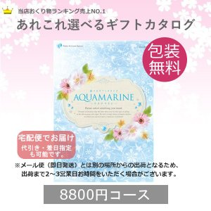 カタログギフト アクアマリン (宅配便) 8800円コース(税込 9504円コース)|bighand