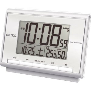 セイコー 温・湿度表示付 電波目覚まし時計 SQ698S|bighand
