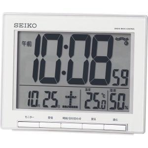セイコー 温・湿度表示付 電波目覚まし時計 SQ786S|bighand
