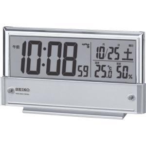 セイコー 温・湿度表示付 電波目覚まし時計 SQ773S|bighand