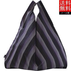 小倉織 縞縞 シンプルBAG(パッケージ付き)#068紫 1E0603068 送料無料(メール便・代引不可)|bighand