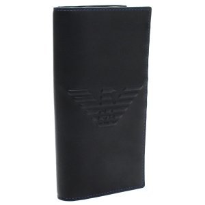 db7a485a0201 エンポリオ アルマーニ EMPORIO ARMANI ビッグ イーグル 2つ折り長財布 Y4R170 YG90J 81072 BLACK ブラック