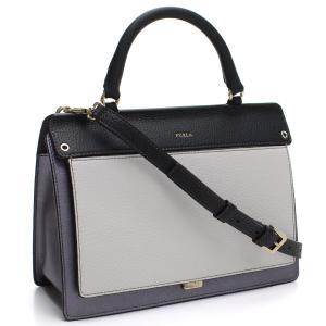 フルラのハンドバッグです    素材:レザー  カラー:G27 ARGENT+GESSO+ONYX ...