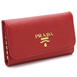 プラダ PRADA サフィアーノ メタル 6連キーケース 1...