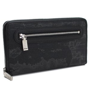 プリマクラッセのラウンドファスナー長財布です    素材:PVC/レザー  カラー: BLACK ブ...