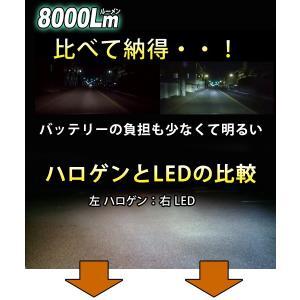 LEDフォグランプ LEDヘッドライト H1 H3 H7 H8 H11 H16 HB4 PSX26W 瞬間点灯 ノイズフリー 8000ルーメン LEDバルブ 6500K 1年保証 2個セット|bigkmartjapan|06