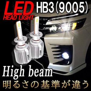 ステップワゴン RP系 RK系  LEDヘッドライト ハイビーム HB3 9005 瞬間点灯 ノイズフリー 8000ルーメン LEDバルブ 6500K 1年保証 2個セット|bigkmartjapan