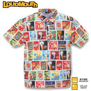 グリーンで目立つ!!インパクトのある総柄が目を惹く「ラウドマウス」の半袖シャツ。 プレイヤーに嬉しい...