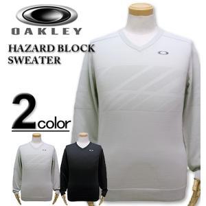 大きいサイズ メンズ OAKLEY (オークリー)Vネック セーター/HAZARD BLOCK SWEATER XL XXL|biglibero