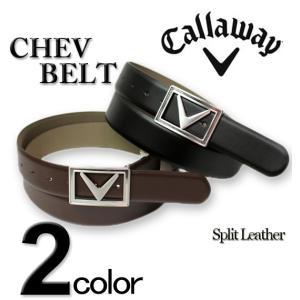 大きいサイズ メンズ CALLAWAY (キャロウェイ) レザーベルト/Chev Belt 40インチ 44インチ|biglibero
