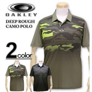 大人気ブランド「OAKLEY」よりUSA直輸入の半袖ポロシャツ(DEEP ROUGH CAMO PO...