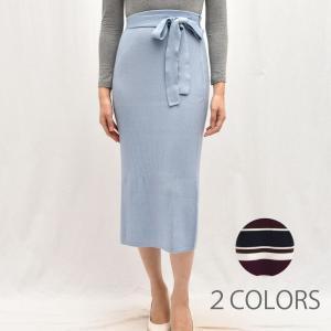 three dots スリードッツ IU303Y リブセーター タイトスカート  正規品ならビリエッタ。送料無料|biglietta