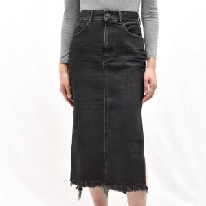 the black ザ ブラック IVY/BK19119 サイドスリット デニムスカート  正規品ならビリエッタ。送料無料|biglietta