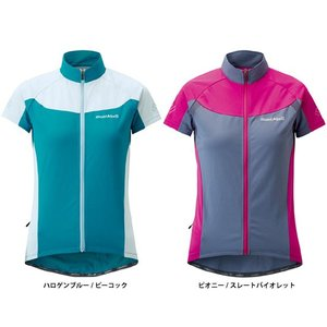 mont-bell レディース サイクールショートスリーブジップシャツ