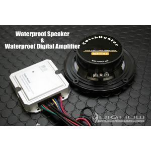 完全防水 オーディオキット バイク用 黒 10cmスピーカー MAX150W リモコン・USB端子・防水|bigrow|02