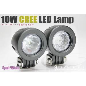 LEDランプ ハイパワー(スポット・ワイドの2タイプのレンズ有)(10W高輝度Cree LED使用)