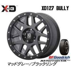 KMC (ケーエムシー) XD127 Bully [Matte Gray/Black Ring] &BFGoodrich All-Terrain T/A KO2 215/70R16 ※個人宅発送不可|bigrun-ichige-store