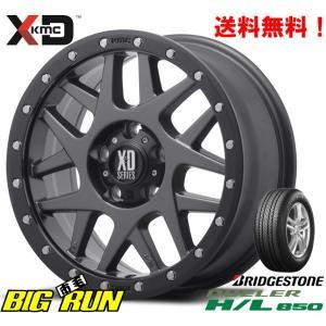 KMC (ケーエムシー) XD127 Bully [Matte Gray/Black Ring] &ブリヂストン DUELER H/L850 225/70R16 ※個人宅発送不可|bigrun-ichige-store