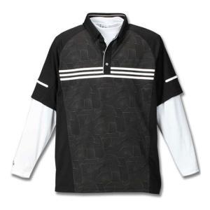 大きいサイズ メンズ adidas golf ジオメトリックレイヤードシャツ ゴルフウェア 3L 4L 5L 6L|bigsize-upstart