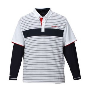 大きいサイズ メンズ TaylorMade カラーブロックレイヤードシャツ ゴルフウェア 3L 4L 5L|bigsize-upstart