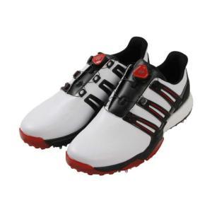 ゴルフシューズ(パワーバンド ボア ブースト) 大きいサイズ メンズ adidas golf  ホワ...