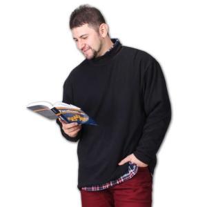 ハイネック長袖Tシャツ 大きいサイズ メンズ Mc.S.P  ブラック|bigsize