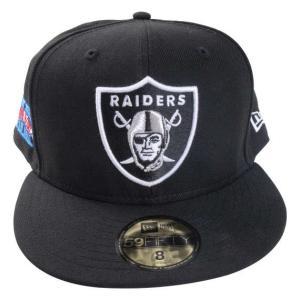 59FIFTY NFLオークランド・レイダースキャップ 大きいサイズ メンズ NEWERA  ブラック bigsize